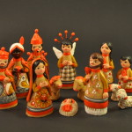 Colorful Clay Nativity