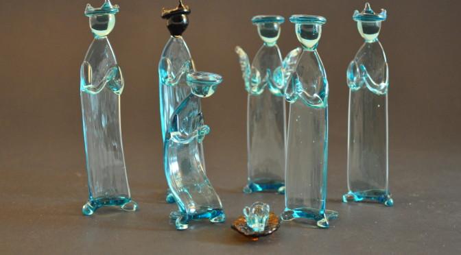 Aqua Glass Nativity