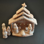 whitewashed terra cotta nativity