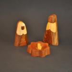 Multi-Wood Abstract Nativity, Holy Family