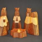 Multi-Wood Abstract Nativity