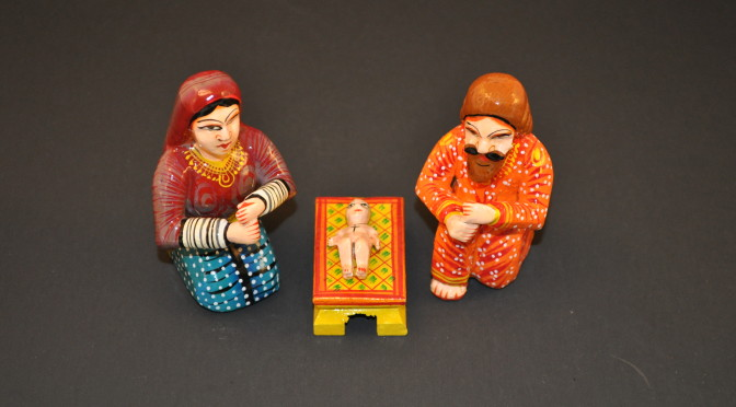 Dotted Benares Nativity