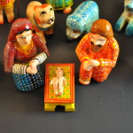 Dotted Benares Nativity, Holy Family