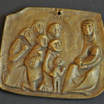Bronze Adoration Relief