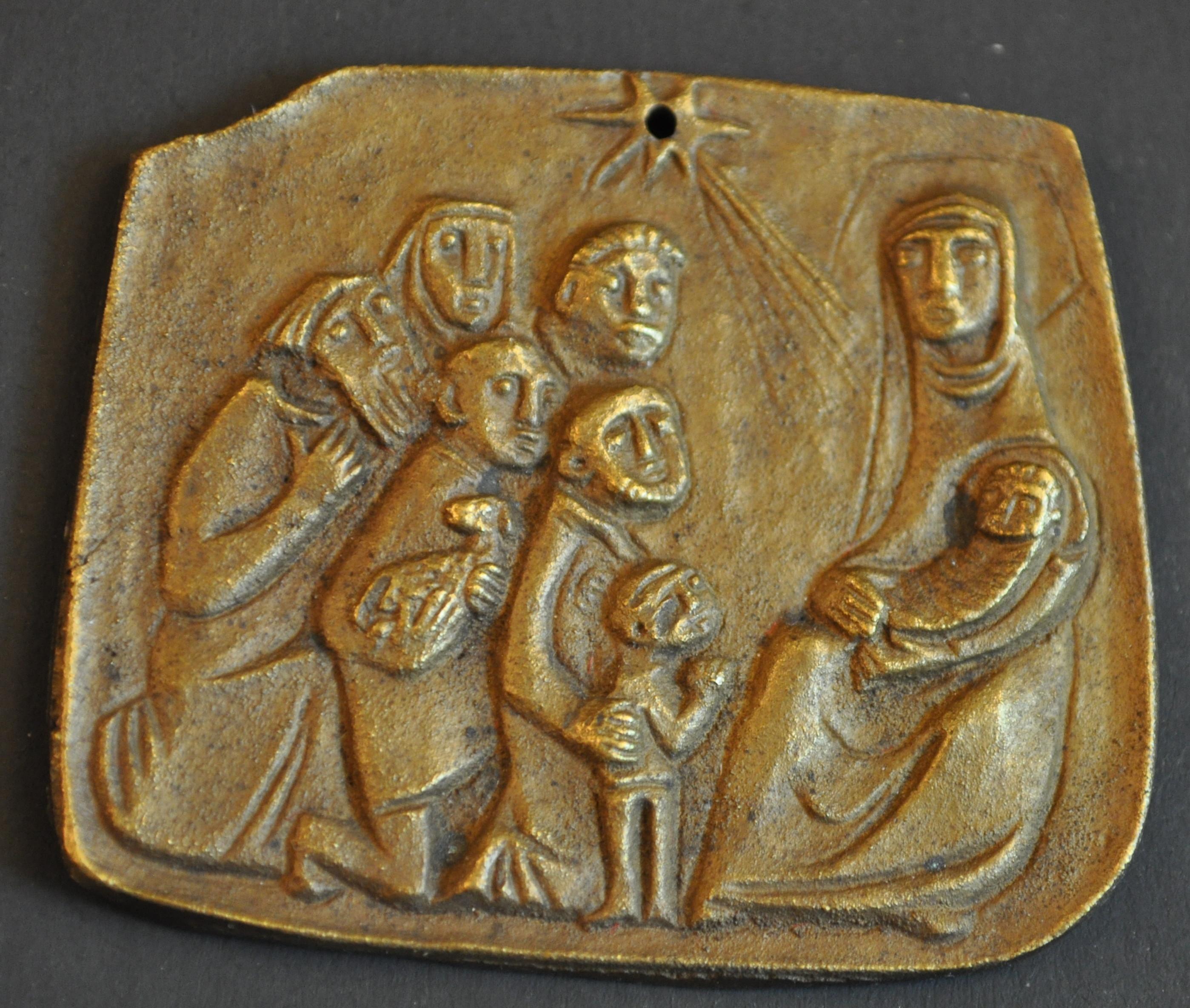 Bronze Adoration Relief
