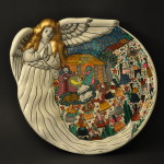 Painted Nativity Plate