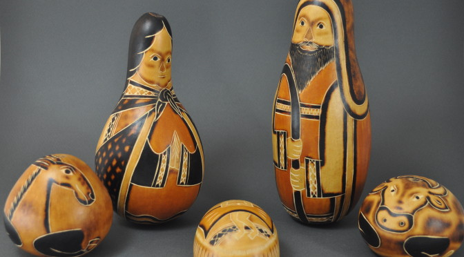 Large Gourd Nativity