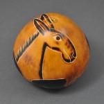 Large Gourd Nativity, donkey