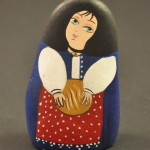 Painted Pebble Nativity. Baker