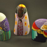 Painted Pebble Nativity. Three Kings