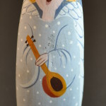 Painted Pebble Nativity. Singing Angel
