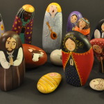 Painted Pebble Nativity