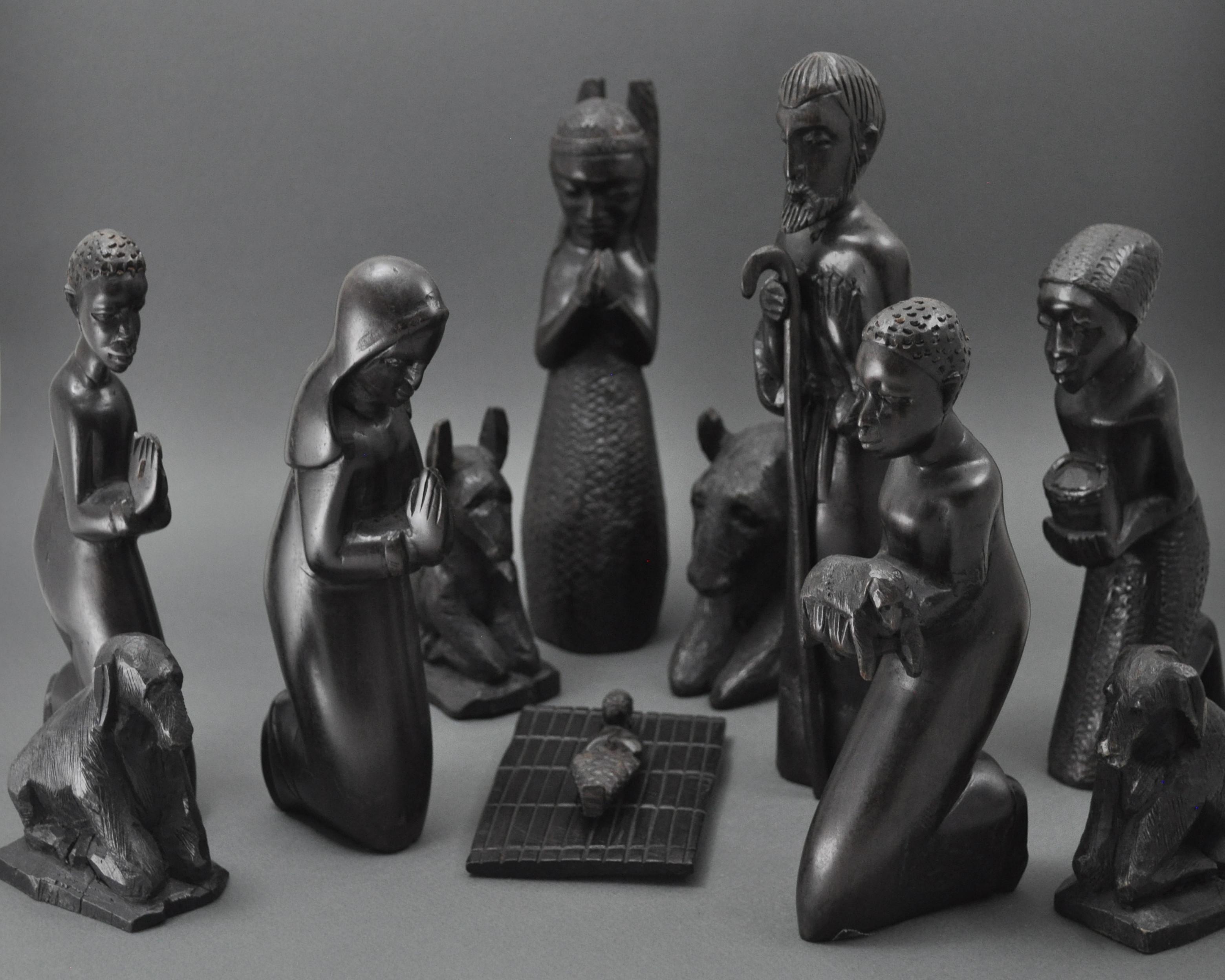 Black Mahogany Nativity