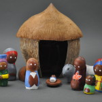 Clay Nativity in a Coconut Hut