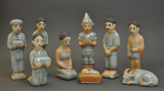 Thai Celadon Nativity