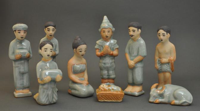 Thai Celadon Nativity