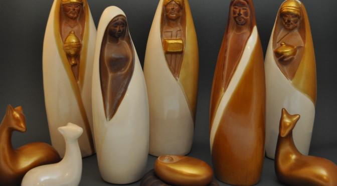 Gold Chulucanas Nativity