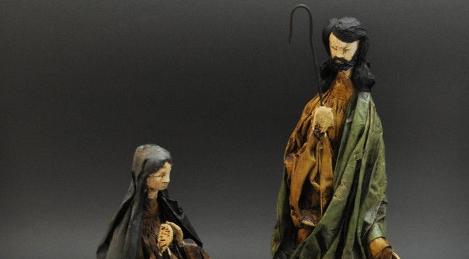 Paper Maché  Holy Family
